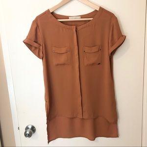 Monk & lou dark orange blouse / top from Plenty